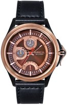 Breil Milano TW1336 'Dome' Multifunction Black Leather Strap Men's Watch