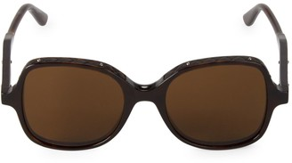 Bottega Veneta 51MM Quilted Trim Square Sunglasses