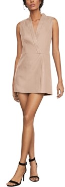 BCBGMAXAZRIA Faux-Leather A-Line Dress