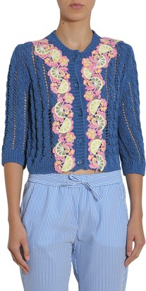 Boutique Moschino Cardigan With Embroidered Details