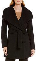 Pendleton Portrait Collar Belted Wrap Coat
