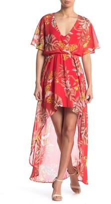 Lush High/Low Print Dress