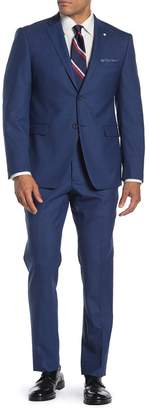 Original Penguin Nested Blue Sharkskin Slim Fit 2-Piece Suit
