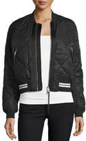 Rag & Bone Vine Zip-Front Quilted Bomber Jacket, Black