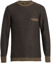 Giorgio Armani Crew-neck Long-sleeved Sweater