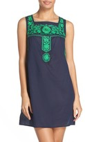 Tory Burch Women's Amira Embroidered Cover-Up Dress