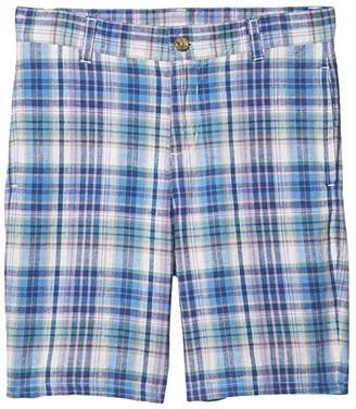 Janie and Jack Plaid Shorts (Toddler/Little Kids/Big Kids) (Blue) Boy's Shorts