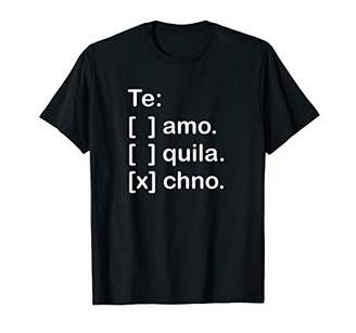 I Love You Tequila and Techno Funny Spanish Shirts Men
