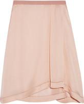 Etoile Isabel Marant Volga pointelle-trimmed satin skirt