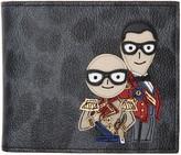 Dolce & Gabbana Grey Leopard Knight Designers Wallet