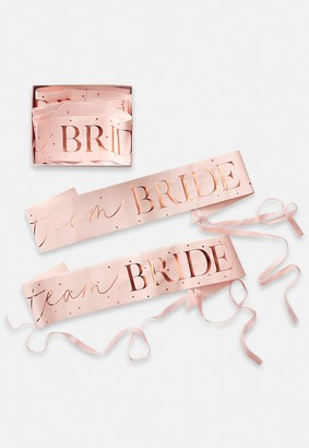 Missguided Rose Gold Team Bride Sash 6 Pack