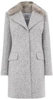 Oasis Bouclé Faux Fur Collar Coat
