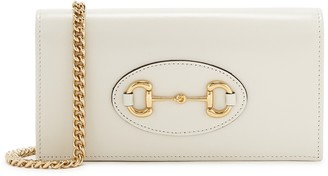 Gucci 1955 Horsebit Mini Ivory Leather Wallet-on-chain