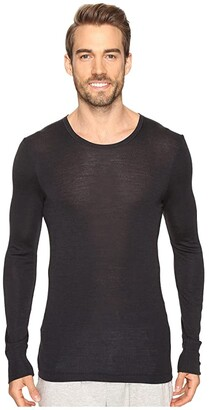 Hanro Woolen Silk Long Sleeve Shirt (Cygne) Men's Clothing