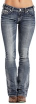 Rock & Roll Cowgirl Rival Multi-Stitch Jeans - Low Rise, Slim Fit, Bootcut (For Women)