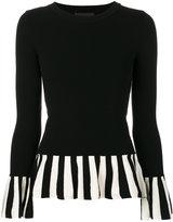 Moschino striped ruffle jumper - women - Polyester/Viscose - 38