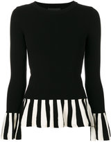 Moschino striped ruffle jumper