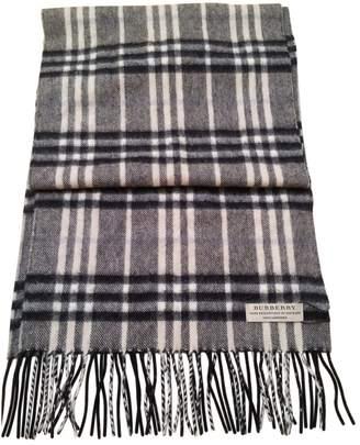 Burberry Grey Cashmere Scarves & pocket squares