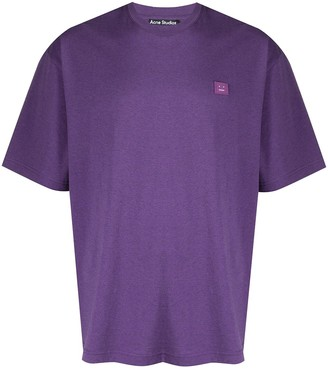 Acne Studios face motif oversized T-shirt