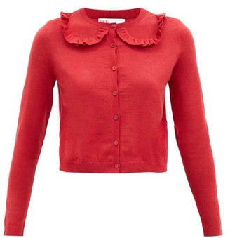 RED Valentino Ruffled Wool-blend Cardigan - Red