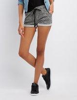 Charlotte Russe Marled Drawstring Shorts