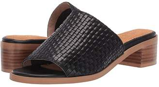 Seychelles Hard to Find (Black Leather) Women's Sandals