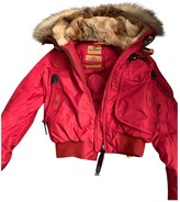 Parajumpers Red Leather Jacket for Women