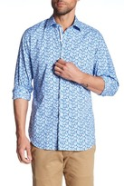 Tailorbyrd Long Sleeve Print Trim Fit Woven Shirt (Big & Tall Available)
