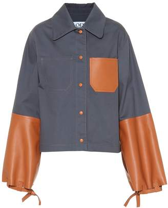 Loewe Leather and cotton shirt