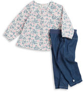 Absorba Floral Top and Jeans Set