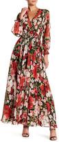 Ark & Co Long Sleeve Cold Shoulder Maxi Dress