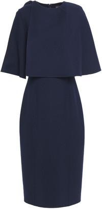Oscar de la Renta Cape-effect Wool-blend Dress