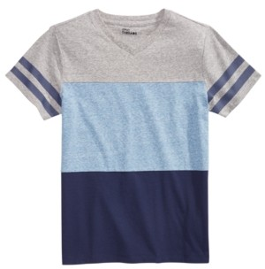 Epic Threads Big Boys Colorblocked Stripe V-Neck T-Shirt, Created for Macy's