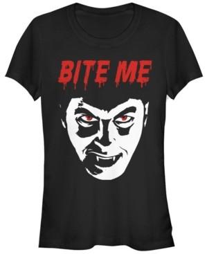 Fifth Sun Universal Monsters Women's Dracula Bite Me Short Sleeve Tee Shirt