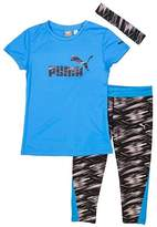 Puma Girls' Capri Set with Headband,-12/14