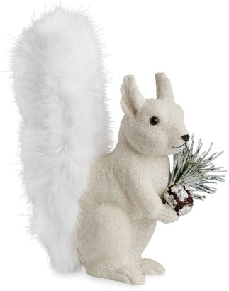 Harrods Squirrel Christmas Decoration with Fur Trims