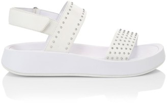 Ash Vivi Studded Leather Sport Sandals