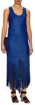 Proenza Schouler Slim Fit Fringe Midi Dress