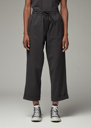 Y-3 Women's Classic Turn Up Track Pant in Black Size XS