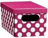 Pottery Barn Teen Dottie Printed Storage Bins, Mini, Pink Dottie