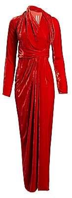 Rick Owens Women's Draped Velvet Wrap Gown