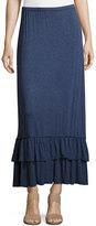 Max Studio Flounce-Hem Jersey Maxi Dress, Indigo