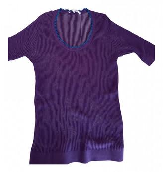 Carven Purple Cotton Tops