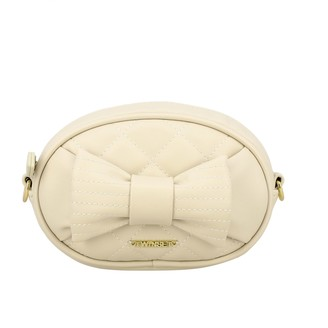 Twin-Set Twin Set Pouch / Bag In Quilted Leather With Bow