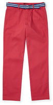 Ralph Lauren 8-20 Belted Stretch Cotton Chino