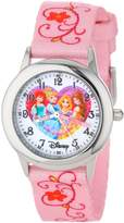 Disney Kids' W000863 Princess Stainless Steel Printed Strap Watch
