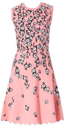 Carolina Herrera Knit Jacquard Scallop Dress