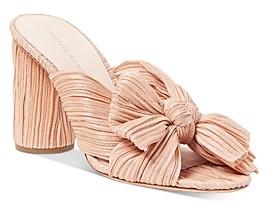 Loeffler Randall Women's Penny Pleated High Heel Slide Sandals