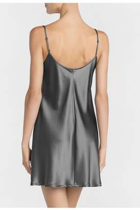 La Perla Silk Silver Silk Short Nightgown