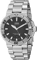 Oris Men's 73376534153MB Divers Analog Display Swiss Automatic Silver Watch